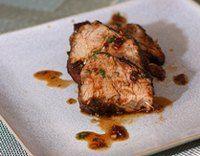 Honey Chipotle Glazed Pork Tenderloin - Image © Diana Rattray