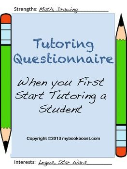 Tutoring Questionnaire