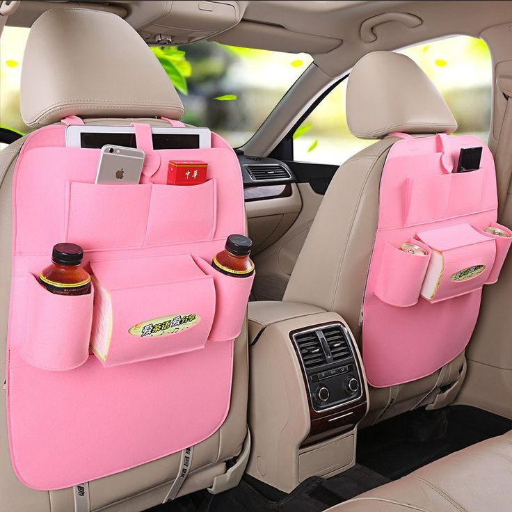 Car back Seat Organizer: BRILLIANT! There is never enough room for the odds and ends in a vehicle!