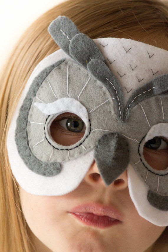 Owl Mask Pattern. Kids Animal Mask Sewing Pattern. DIY Party Mask ...