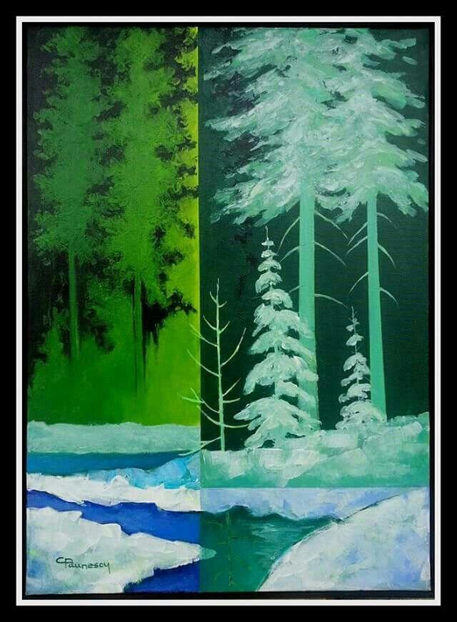 Winter Night, art by C.Paunescu