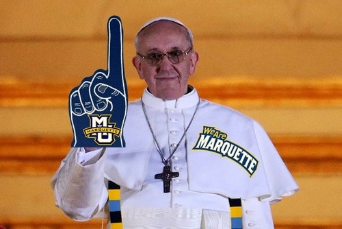 NCAA tournament 2013: Selection Sunday and Marquette pope photoshops. Lexington here we come! GOOOOOOOOOOOOOO  Marquette!! Woot! Woot!
