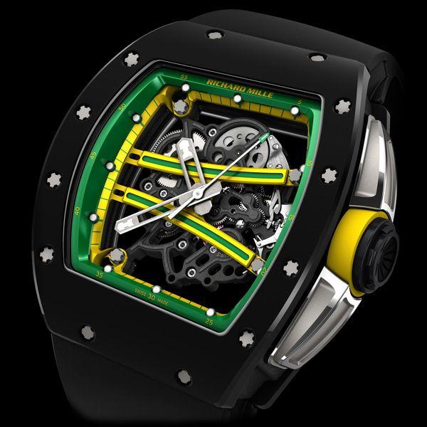 TZP black ceramic was chosen for the RM 61-01 Yohan Blake's bezel and caseback... RICHARD MILLE RM 61-01 Yohan Blake (See more at En/Fr: http://watchmobile7.com/articles/richard-mille-rm-61-01-yohan-blake) (1/5) #watches #montres #richardmille