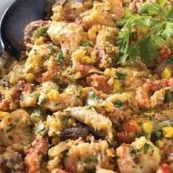 Comfort food! Try this recipe for Old Tyme Cajun Cornbread Casserole! Shrimp, crawfish and blue crab meat... need we say more? #recipes