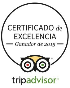 Acabamos de recibir la notificación de ser galardonados con el Certificado de Excelencia de Tripadvisor 2015¡Gracias! - We have received the Excellence Award by Tripadvisor.Thank you!