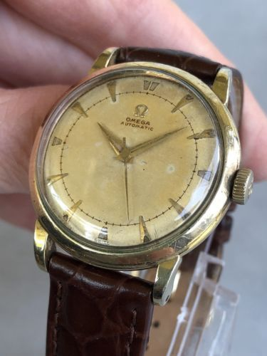 0361bf57fc6e 1950-Vintage-Omega-Automatic-Bumper-Gold-Filled-Case-Cal-351-CLEAN-SERVICED