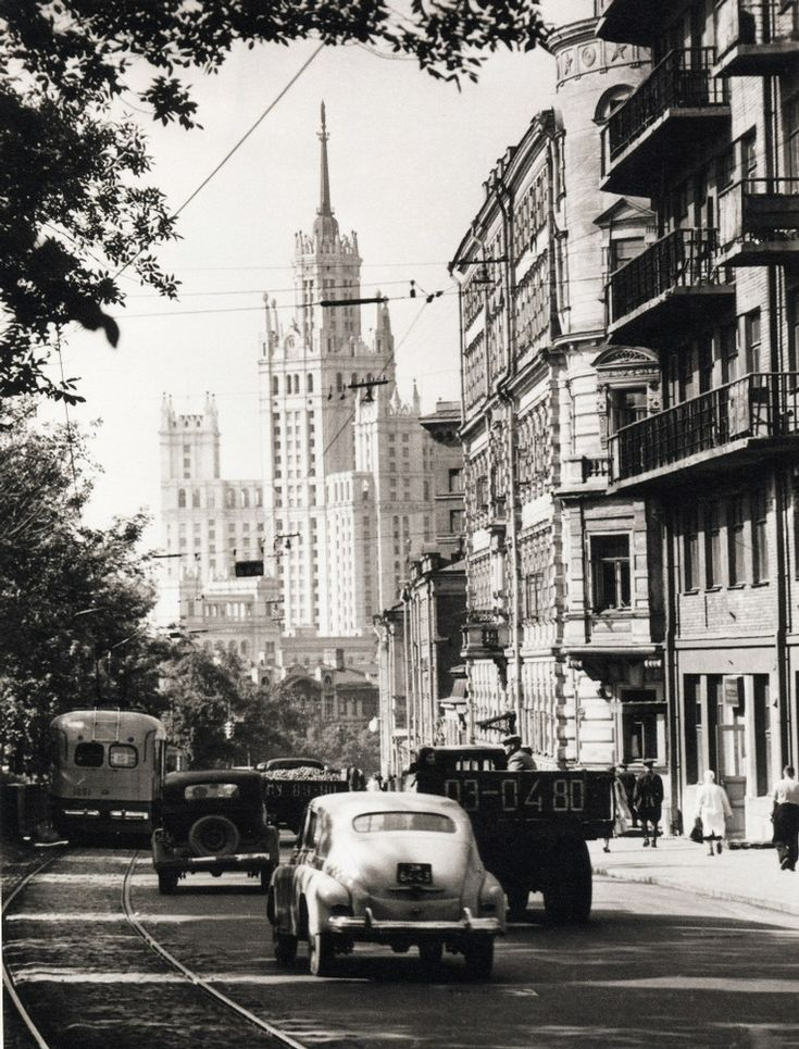 Moscow boulevards, 1950s