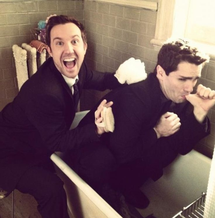 Sam & Sam - Witwer & Huntington, this might be the most awesome picture ever. #BeingHuman ツ