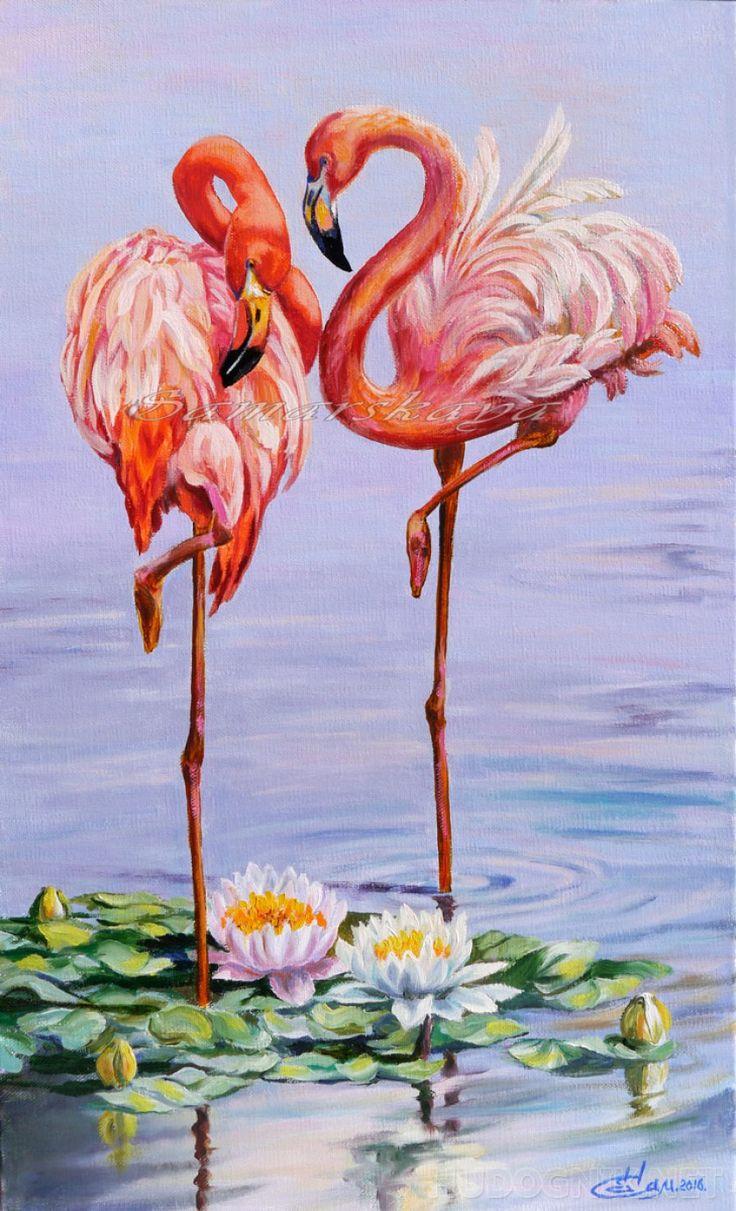 День, красивые открытки фламинго