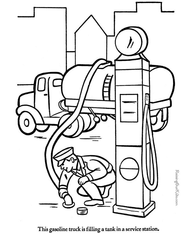 Gas Truck Coloring Pages Truck Coloring Pages Train Coloring Pages Coloring Pages