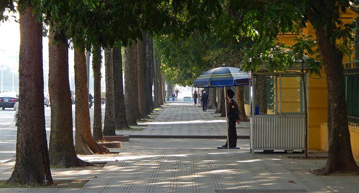 At the president palace in Hanoi. #hanoi #travel #palace #police #travel #street #vietnam
