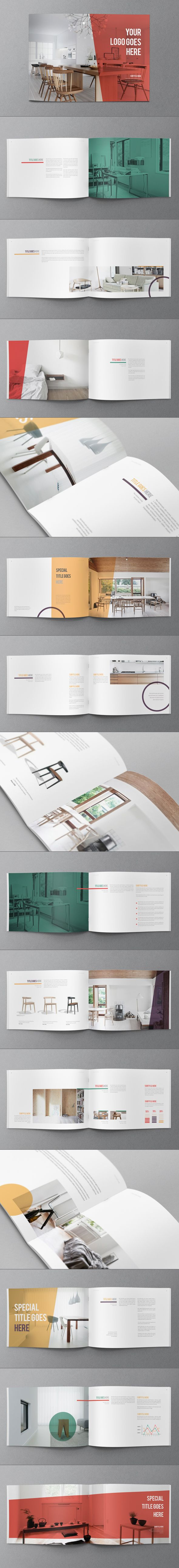 Colorful Minimal Brochure on Behance