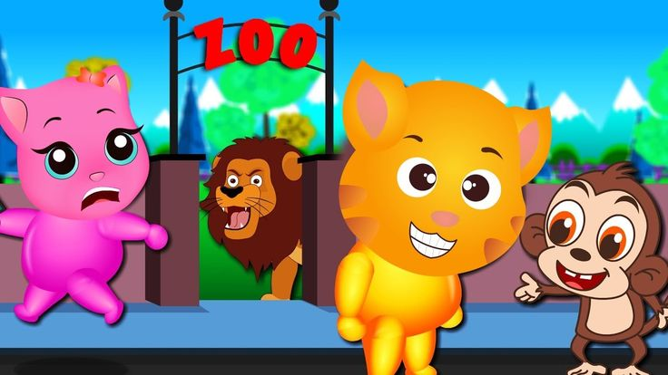 Finger Family Funny Cats   Funny Cats visits Zoo finger family Rhyme for Kids