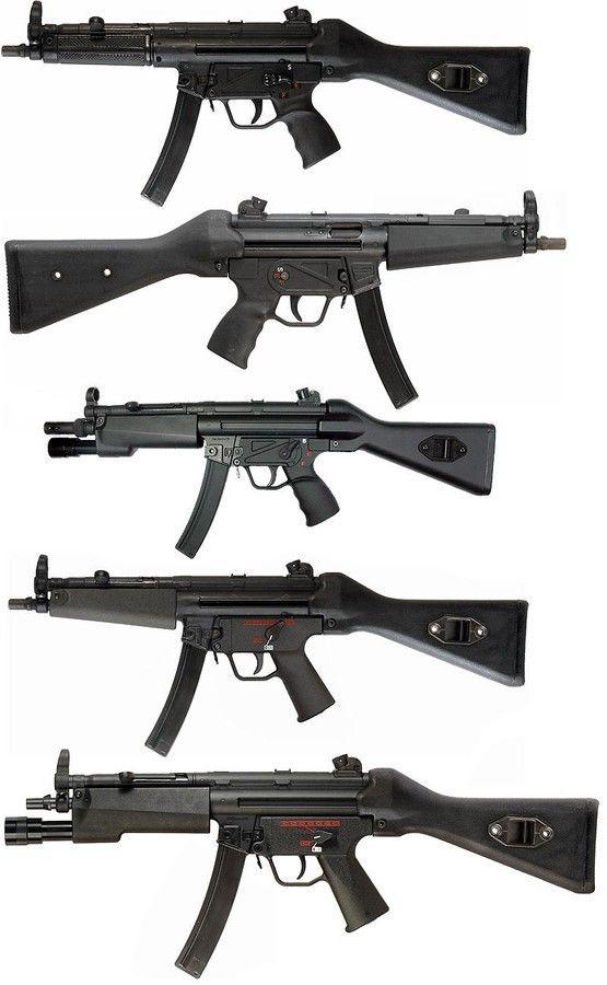 Developed by the German HK MP5 submachine gun series.