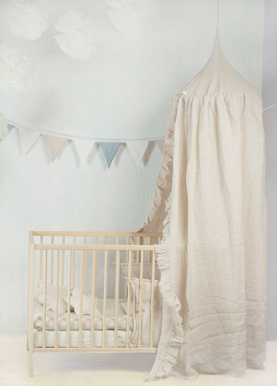 Handmade linen canopy for babies kids play decor rest & 17 Best images about Linen canopy for babykids on Pinterest ...