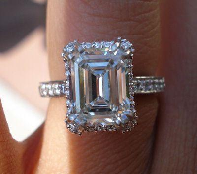 LOVE!!!! Tacori Emerald Cut Engagement Ring