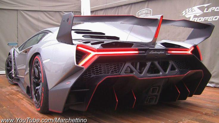 Lamborghini Veneno LOUD Exhaust SOUND! - 2x Start and Moving