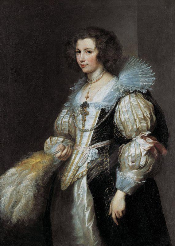Антонис ван Дейк. Портрет Марии де Тассис (1611–1638) Около 1629–1630. Холст, масло. ЛИХТЕНШТЕЙН.  Княжеские собрания, Вадуц — Вена