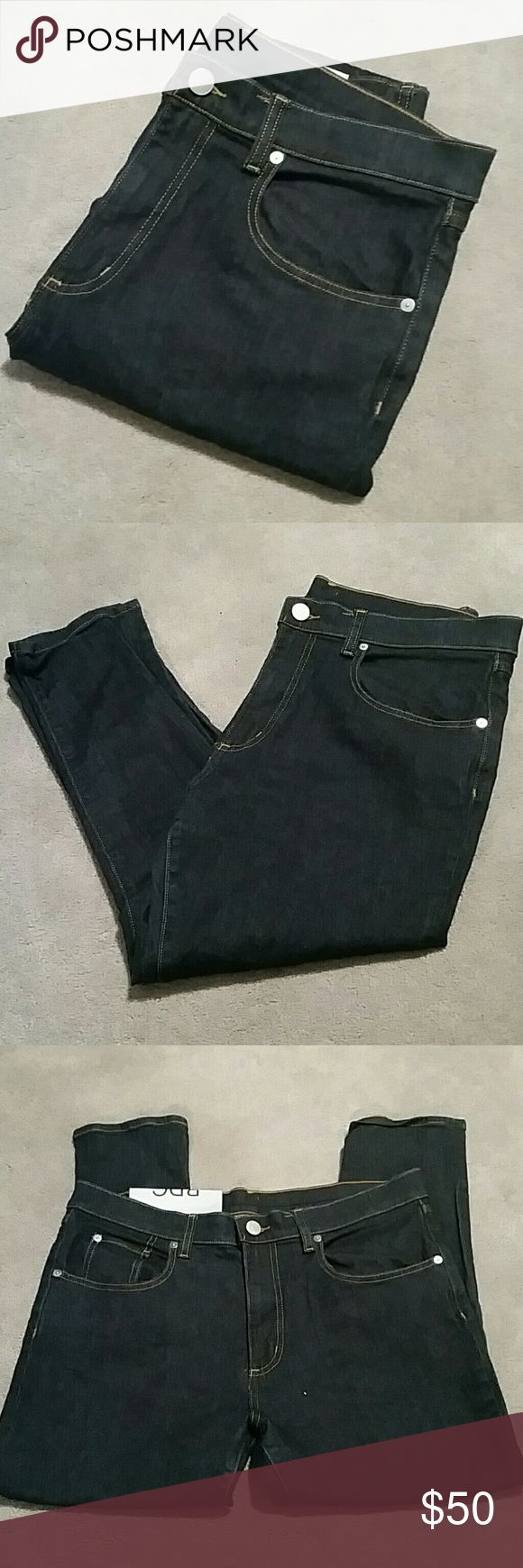 "NWT BDG Drainpipe High Rise Ankle Skinnies- 31W Brand new, with some tags, never worn, dark rinse blue jeans Smoke and pet free home  31W Drainpipe High Rise Cropped Skinnies  98% cotton /2% spandex  Approx Measurements :  Waist 17"" Rise 11"" Inseam 24"" BDG Jeans Ankle & Cropped"