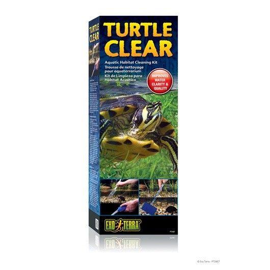 Kit Limpieza Tortruga EXOTERRA Exo Terra Turtle Clear Kit de Limpieza para Hábitat Acuático es un equipo de herramientas de mantenimiento que hace sencilla la limpieza de su terrario acuático.