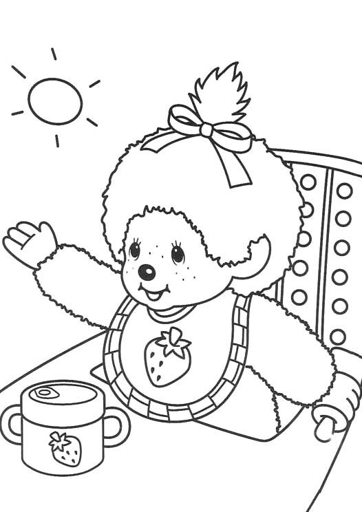 monchichi coloring pages - photo#5