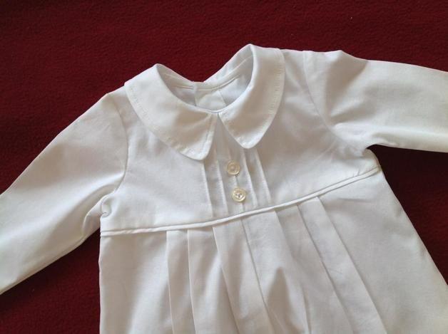 Taufbekleidung - Klassischer Taufanzug für Buben aus Baumwolle - ein Designerstück von fein-aber-klein bei DaWanda