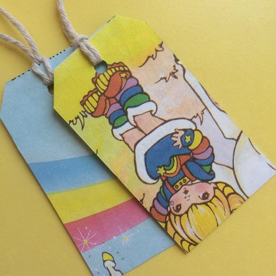 Rainbow Brite Little Golden Books Gift Tags by DyeNumber2 on Etsy