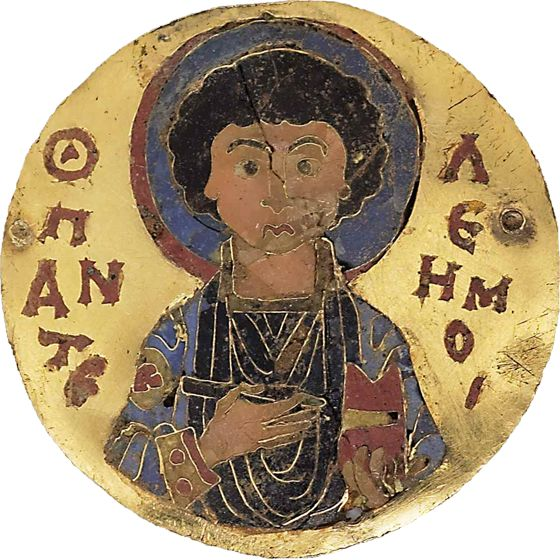 Cloisonné enamel medallion of Saint Pantaleon. Late 11th or early 12th C. #SamFogg