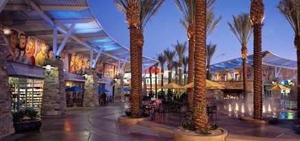 Desert Ridge Marketplace in North Phoenix is an open mall with fountains, live music, LOTS of restaurants and plenty of shopping (middle end shopping).  A great place to stroll for an evening, grab a great meal and head to AMC movies to catch a show.