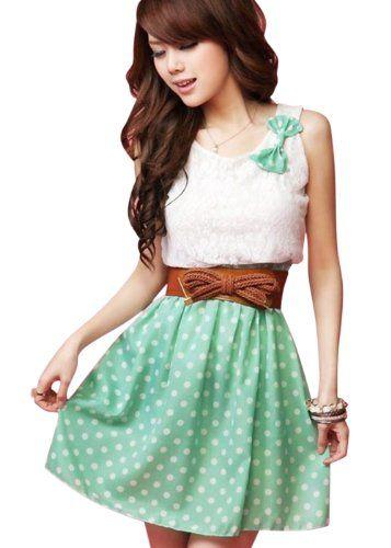 Asoidchi Ladies Scoop Neck Sleeveless Lace Upper Detail Casual Dress asoidchi http://www.amazon.com/dp/B00JVEFRPE/ref=cm_sw_r_pi_dp_faQAub0KF9018
