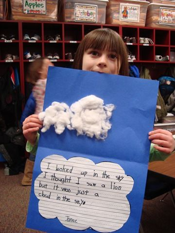 Little Cloud by Eric Carle - cute cloud writing  1st or 2nd grade