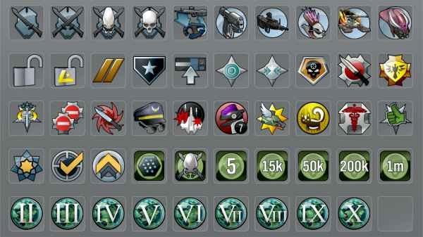 Halo:Reach achievement icons.