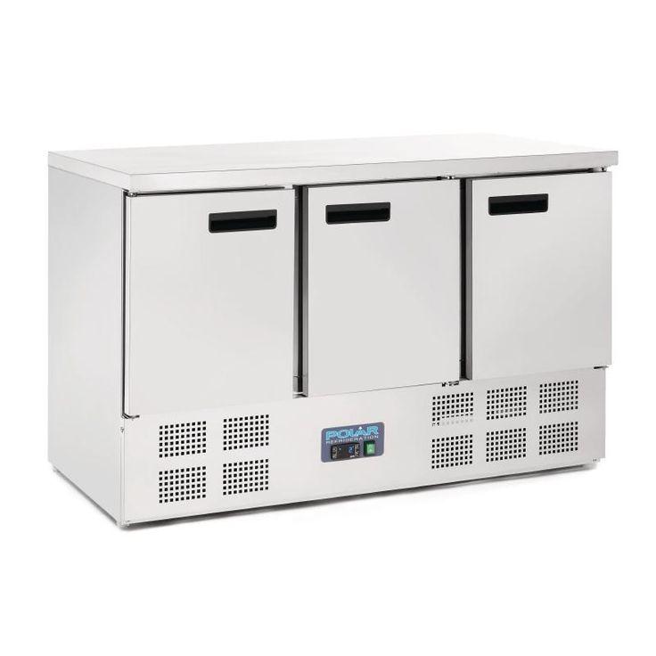 Polar 3 Door Counter Fridge 363Ltr Stainless Steel   $1,649.90