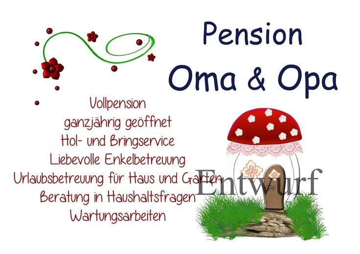 Pension Oma und Opa von Brittis-Kreativ-Welt auf DaWanda ...