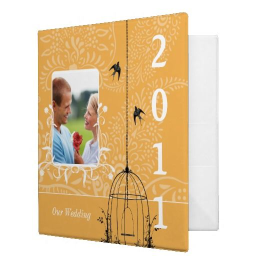 Beeswax Bird Cage Your Photo Wedding Planner Vinyl Binder   Click on photo to purchase. Check out all current coupon offers and save! http://www.zazzle.com/coupons?rf=238785193994622463&tc=pin