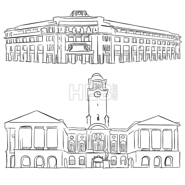 Singapore Victoria Concert Hall Historical Theatre by Hebstreits #stockimage #vector #design Check more: https://hebstreits.com/product/singapore-victoria-concert-hall-historical-theatre/