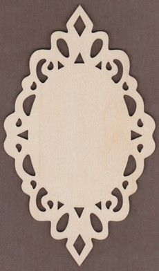WT1947-Laser cut Lacy Oval Plaque