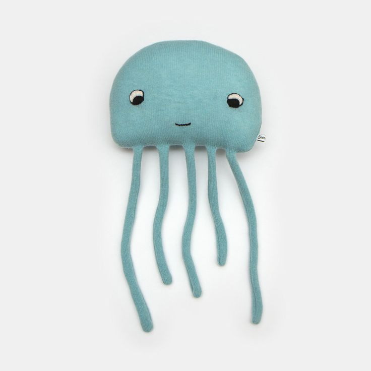Harold the Jellyfish Lambswool Plush Toy Made to by saracarr