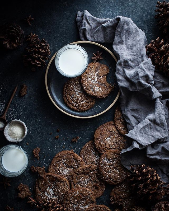 Soft, chewy ginger snaps. My favorite cookie year round! . http://thekitchenmccabe.com/2015/12/31/chewy-ginger-molasses-cookies/ . #molasses #ginger #gingersnap #glutenfree #glutenfreecookies #dairyfree #refinedsugarfree #cleaneating #feedfeed @thefeedfeed #buzzfeast #buzzfeedfood #food52grams #foodgram #foodwinewomen #huffposttaste #instafood #wsbakeclub #marthabakes #instabake #bakersofinstagram #cookies #christmascookies