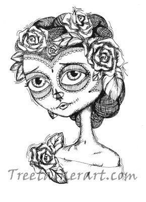 Simple Sugar Skull Drawings Tumblr