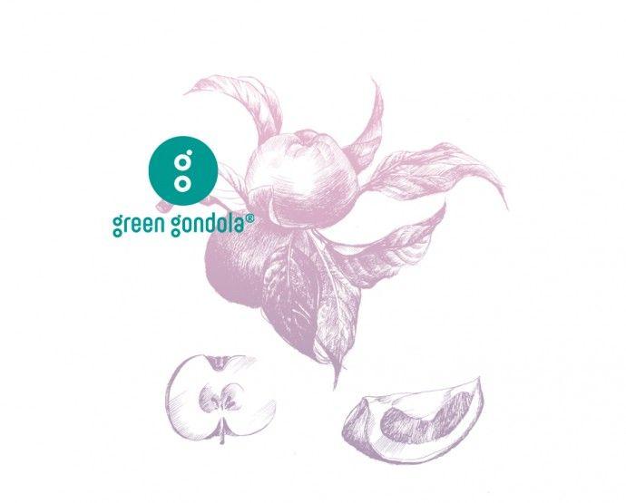 green_gondola_logo, graphic design, corporate identity, logo, drawing, illustration