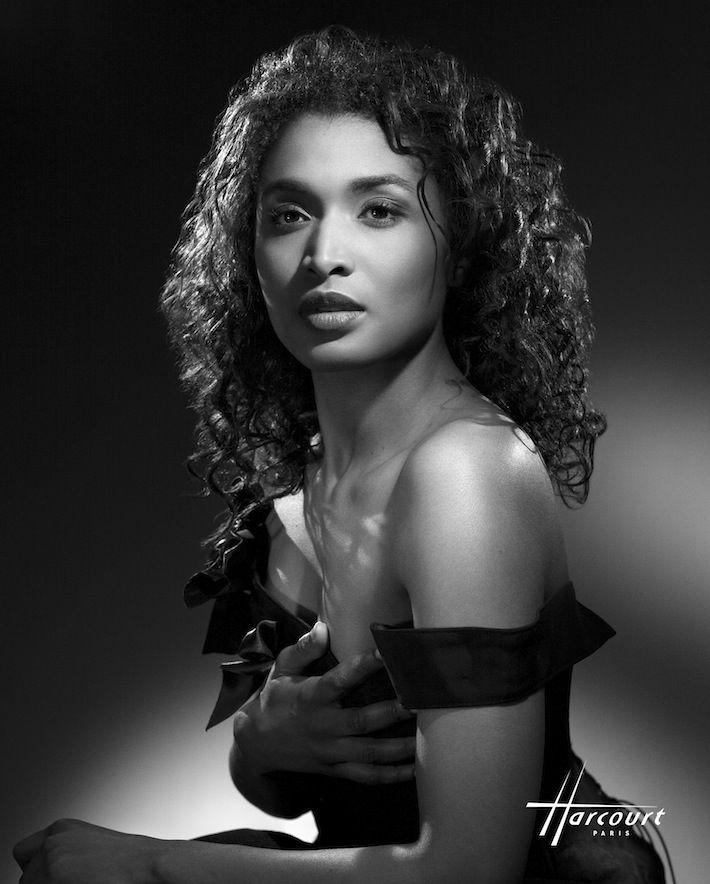 Actress Sara Martins.  TV series Death in Paradise