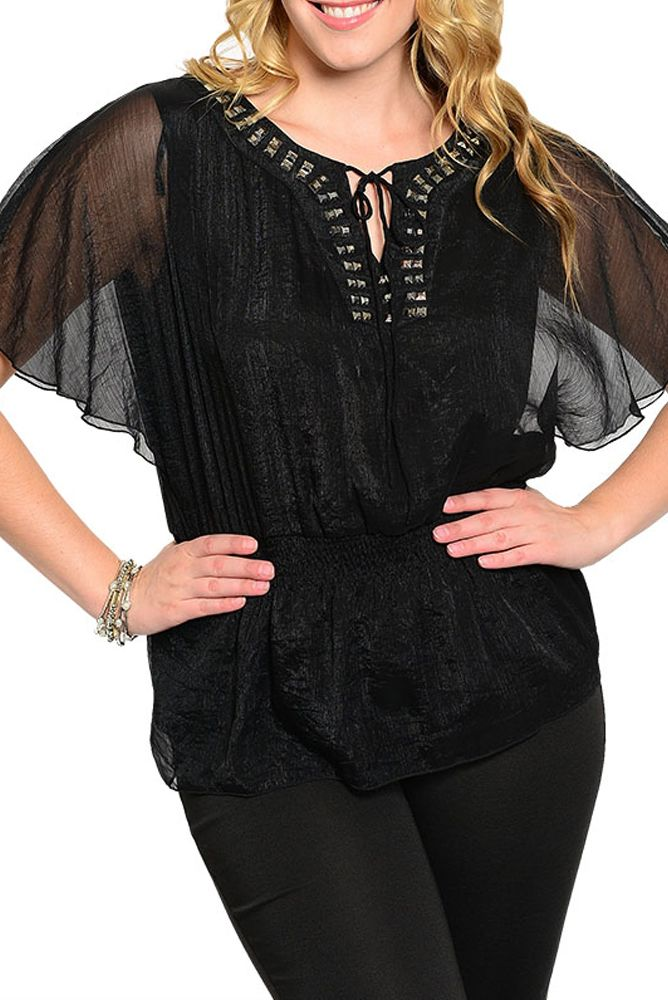 DHStyles Women's Black Plus Size Dressy Jeweled Front Tie Up Kimono Top - 2X #sexytops #clubclothes #sexydresses #fashionablesexydress #sexyshirts #sexyclothes #cocktaildresses #clubwear #cheapsexydresses #clubdresses #cheaptops #partytops #partydress #haltertops #cocktaildresses #partydresses #minidress #nightclubclothes #hotfashion #juniorsclothing #cocktaildress #glamclothing #sexytop #womensclothes #clubbingclothes #juniorsclothes #juniorclothes #trendyclothing #minidresses…
