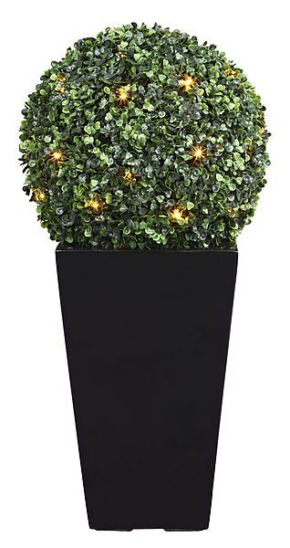 Our stylish topiary box is  a patio must-have. http://www.clasohlson.com/uk/LED-Boxwood-Ball/18-2425