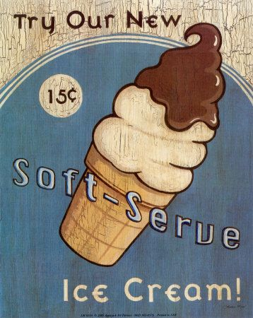 Soft Serve Ice Cream Posters by Louise Max - AllPosters.co.uk
