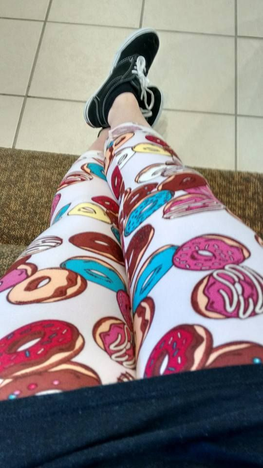 I never said I would get crazy leggings and now here I am wearing my LuLaRoe donuts. Come join my journey toward being a consultant!   www.facebook.com/groups/lularoejoni  #donutleggings #beawesome #becomfortable #beyou #lularoeleggings
