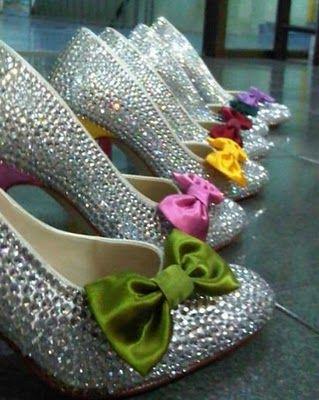 Rainbow wedding theme Inspiration needed please, Kept Elegant :  wedding bouquet bridesmaid cake dress dresses ideas inspiration rainbow shoes theme wedding Diamond+%26+Rainbow+Shoes