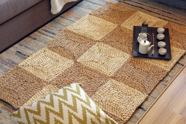 Rustic Area Rug /meditation cushion/green carpet /valentines day/ Straw Mat/baby rug/kids gift/picnic rug/wedding gift/meditation mat by GrasShanghai on Etsy