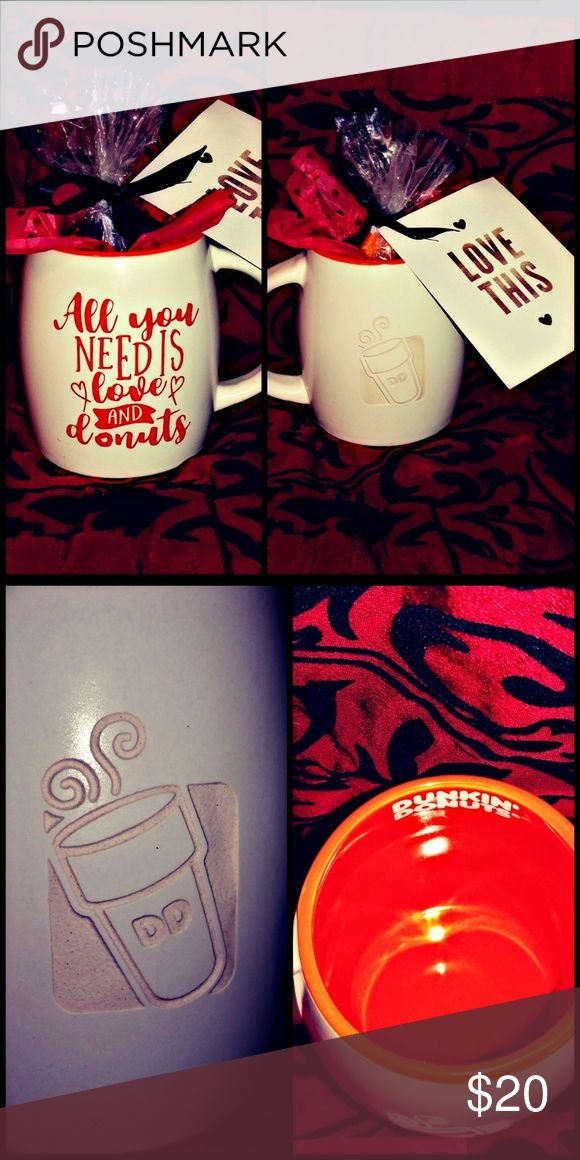 💋☕(#3) CUSTOM VALENTINE'S GIFT (PLS READ) 📬 WILL SHIP WITH CARE IN 24-48 HOURS!  ✴️ PRICE IS FIRM ✴️  💖 CUSTOM VALENTINE'S DAY GIFT LISTING INCLUDES 💖  • (1) NEW 16oz ETCHED DUNKIN' DONUT COFFEE CUP  • INSIDE CUP, FILLED WITH CANDY IN A BAG!  • A CUSTOM VINYL DECAL ON THE OPPOSITE SIDE! • ATTACHED NOTE  (ONE SIDE IS BLANK FOR WRITING)  ‼️ ALL SALES ARE FINAL ‼️ Dunkin' Donuts Other