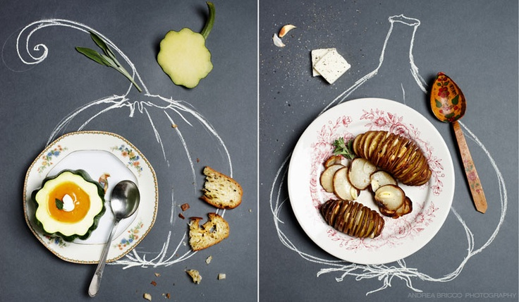 I must try this for a dinner. Draw what the dishes are so people can know what they want. By: andrea bricco photography